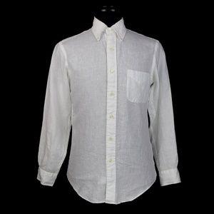 Brooks Brothers Slim Irish Linen L/S Shirt Small